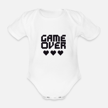 Game Over Retro game over (Game over) - Økologisk kortærmet babybody