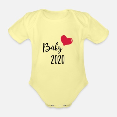 Baby 2020 with heart - Organic Short-Sleeved Baby Bodysuit