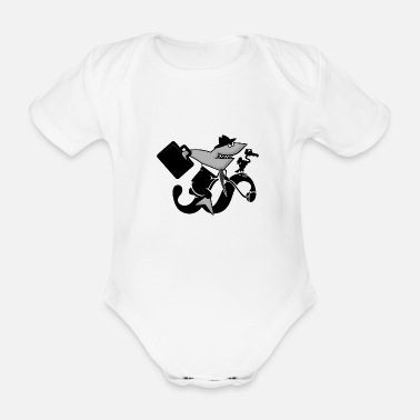 Vulture Paragraph Rider - Shark Law Rider (DDP) - Organic Short-Sleeved Baby Bodysuit
