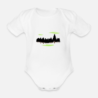 Forest Forest Forest - Organic Short-Sleeved Baby Bodysuit