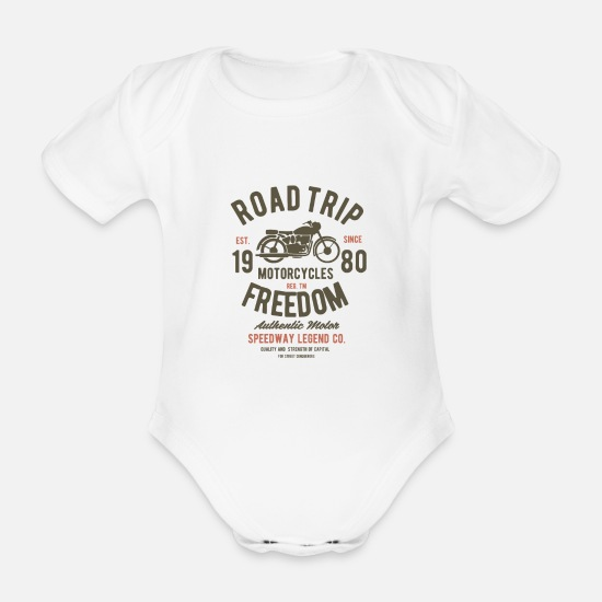 Travel Baby Clothes - On the journey - Organic Short-Sleeved Baby Bodysuit white