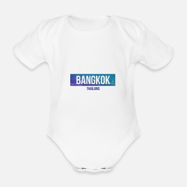 South East Asia Bangkok Thailand city gift idea Southeast Asia - Organic Short-Sleeved Baby Bodysuit