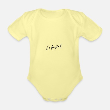 Word Of Wisdom Love Lovers Words Word of Wisdom Gifts - Organic Short-Sleeved Baby Bodysuit