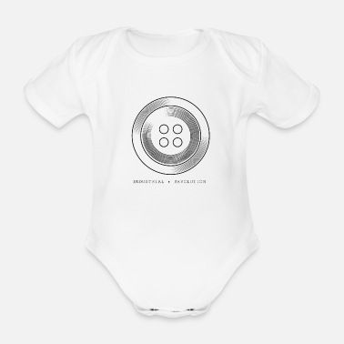 Industry Couture button - Industrial Revolution - Industry - Organic Short-Sleeved Baby Bodysuit
