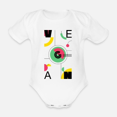Abstract Vegan - Organic Short-Sleeved Baby Bodysuit