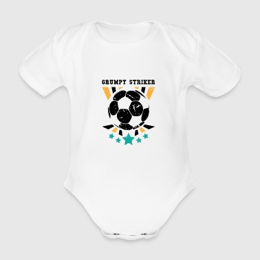 Football Player Funny Soccer Gift for Soccer Coaches, Players and Fans - Organic Short-sleeved Baby Bodysuit