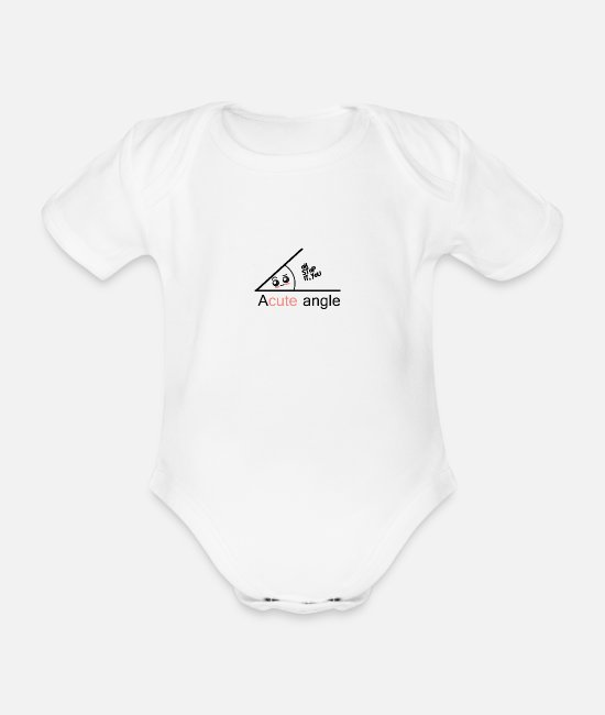 Proud Baby Bodysuits - acute angle - Organic Short-Sleeved Baby Bodysuit white