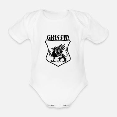 Shield Griffin Name Shield Mythical Eagle Lion - Baby Bio-Kurzarm-Body