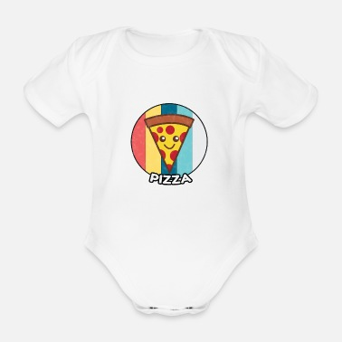 Italy Pizza vintage fast food food gift idea - Organic Short-Sleeved Baby Bodysuit