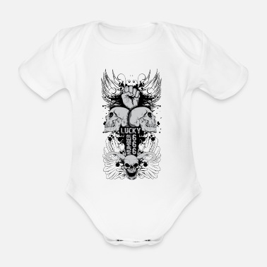 Lucky Number Lucky Number 666 - Organic Short-Sleeved Baby Bodysuit