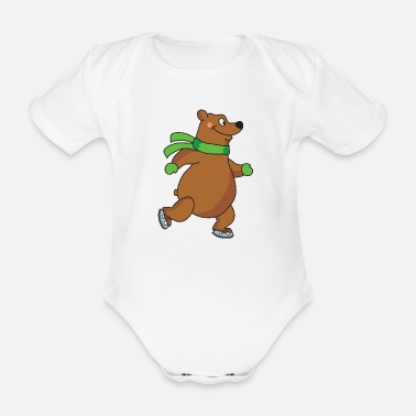 Brown Bear brown bear - Organic Short-sleeved Baby Bodysuit