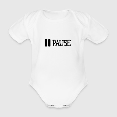 pause - Organic Short-sleeved Baby Bodysuit
