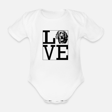 Love Hovawart dog dog owner dog saying Dog - Organic Short-Sleeved Baby Bodysuit