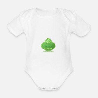 Save The Planet save the planet - Organic Short-Sleeved Baby Bodysuit