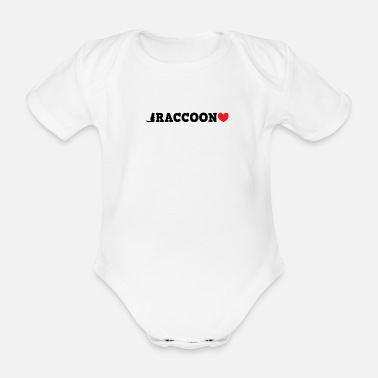 Badgers Dear raccoon - Organic Short-Sleeved Baby Bodysuit
