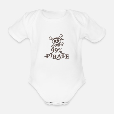 Captain pirate - Organic Short-Sleeved Baby Bodysuit