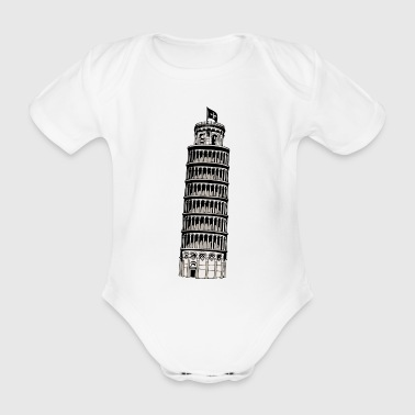 Tower of Pisa - Organic Short-sleeved Baby Bodysuit