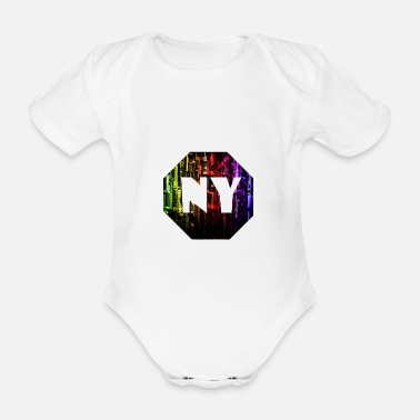 Ny NY - Organic Short-Sleeved Baby Bodysuit