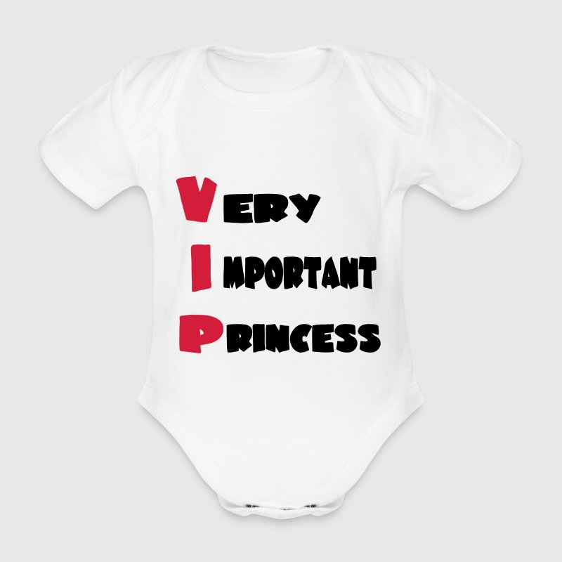 Very important princess 111 - Baby bio-rompertje met korte mouwen