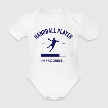 Handball Handball player loading - Body bébé bio manches courtes