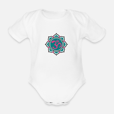 AUM / Om 2 - Organic Short-Sleeved Baby Bodysuit