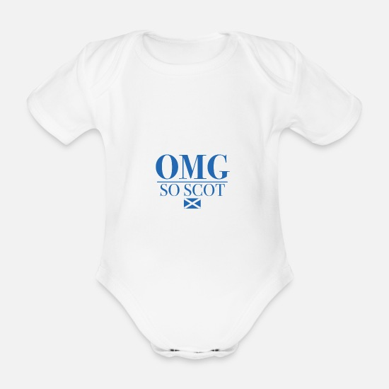 Scotland Baby Clothes - OMG so scot - Organic Short-Sleeved Baby Bodysuit white