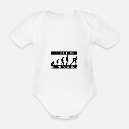 ebf1cb45 Jul Babyklær - Evolution Inline Skating - Økologisk kortermet babybody hvit