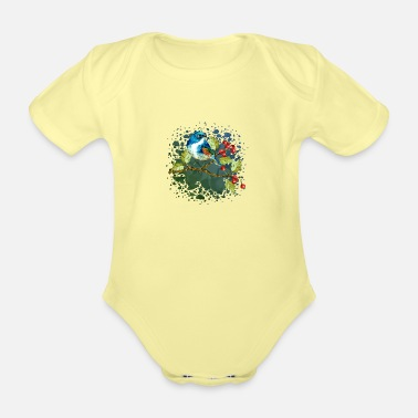 The Best Colorful bird - Organic Short-Sleeved Baby Bodysuit