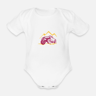 Autonaut Off-road vehicle SUV Jeep 4x4 - Organic Short-Sleeved Baby Bodysuit