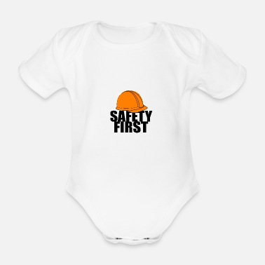 Safety Helmet Safety First Safety First Protective Helmet Protect - Organic Short-Sleeved Baby Bodysuit