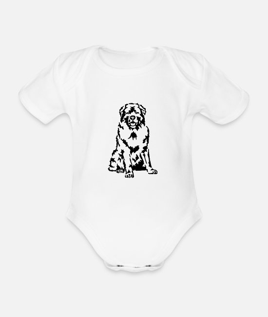 Animal Welfare Baby Bodysuits - Caucasian - Organic Short-Sleeved Baby Bodysuit white