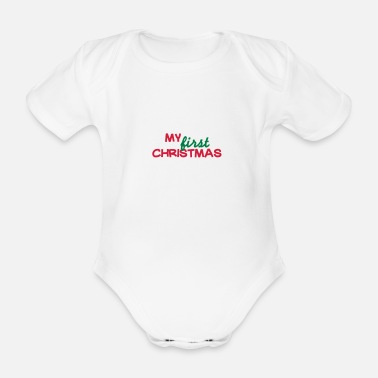 Christmas My first christmas - Økologisk kortærmet babybody