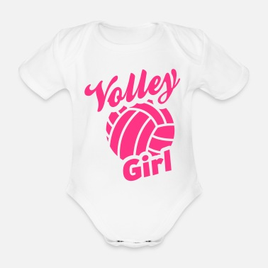 Volley volley girl - Organic Short-Sleeved Baby Bodysuit