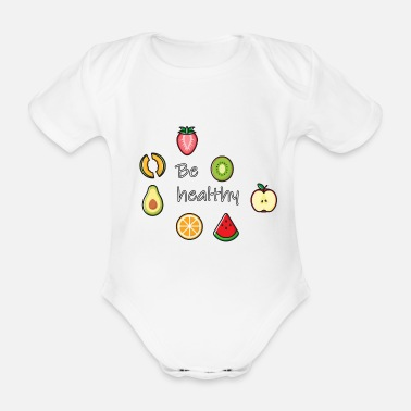 Healthy Be healthy - Organic Short-Sleeved Baby Bodysuit