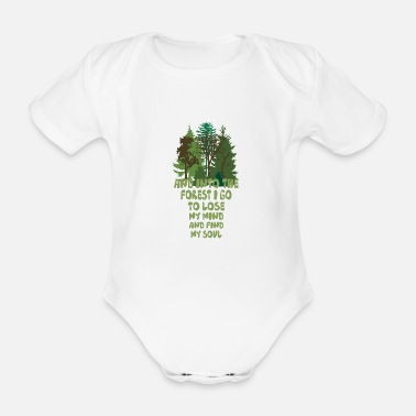 Forest into the forest - Organic Short-Sleeved Baby Bodysuit