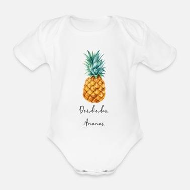 Ananas ananas - Ekologisk kortärmad babybody 53e16f3a7929c