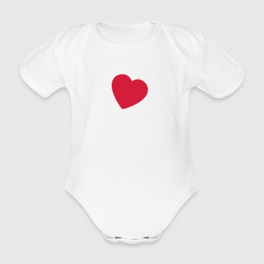 little heart NO - Økologisk kortermet baby-body