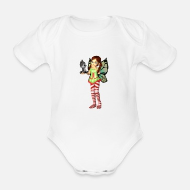 No Desire My friend the raccoon 12 - Organic Short-Sleeved Baby Bodysuit