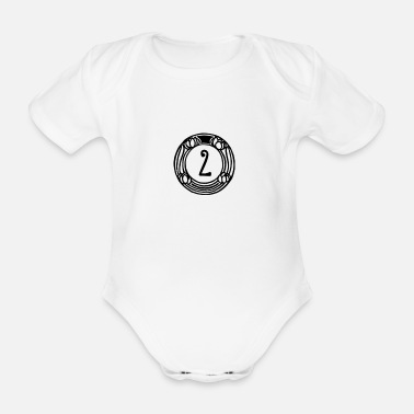 Two TWO - 2 - TWO - Organic Short-Sleeved Baby Bodysuit