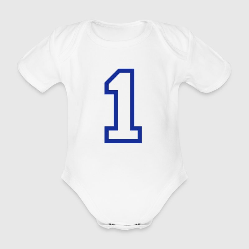 THE NUMBER 1-ONE - Organic Short-sleeved Baby Bodysuit