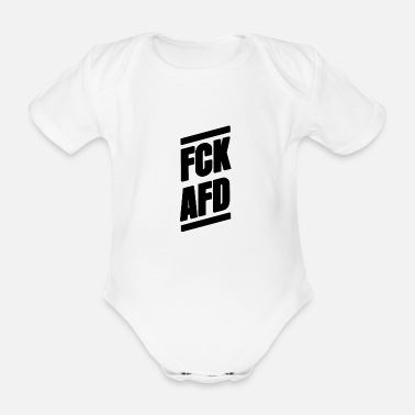 Nazi FCK AFD Nazis out alternative for Germany - Organic Short-sleeved Baby Bodysuit