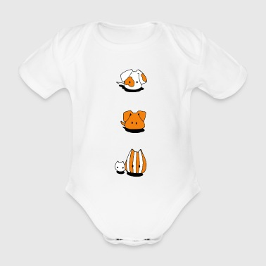 Two dogs and two cats - Organic Short-sleeved Baby Bodysuit