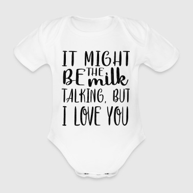 Funny Baby funny saying baby praise - Organic Short-sleeved Baby Bodysuit