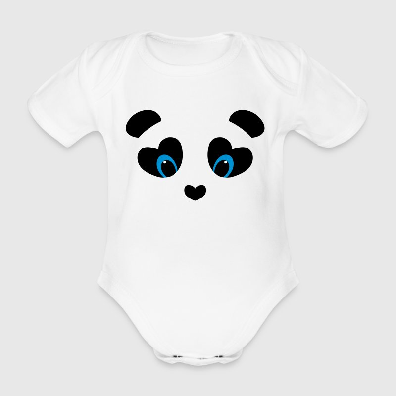 panda transparent - Baby Bio-Kurzarm-Body