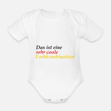 very cool color combination Germany schlanf - Organic Short-Sleeved Baby Bodysuit