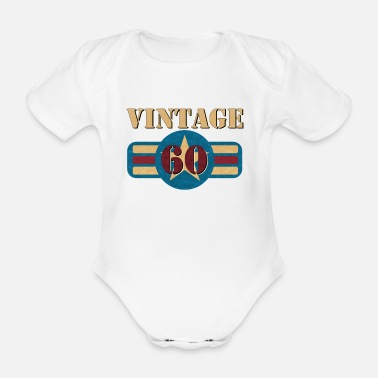 Royal Air Force Vintage US Air Force USAF 60 Gift Military - Organic Short-sleeved Baby Bodysuit