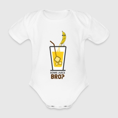 Banana juice freshly tapped - Organic Short-sleeved Baby Bodysuit