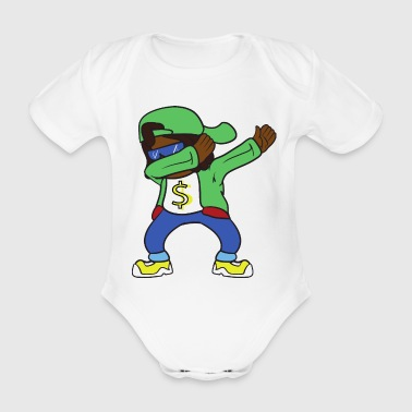 Dabbing Dab Rapper Hip Hop - Organic Short-sleeved Baby Bodysuit