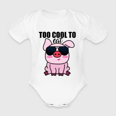 Vegan Vegan Vegetable Trendy Cool - Baby bio-rompertje met korte mouwen