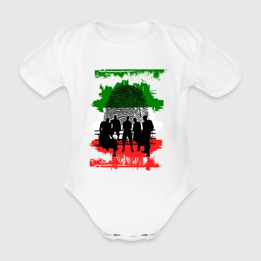 Italy flag banner banner colors - Organic Short-sleeved Baby Bodysuit